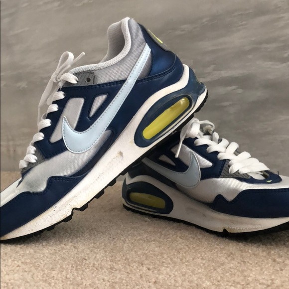 Nike Air Max sneakers - white/lt. blue/yellow/navy